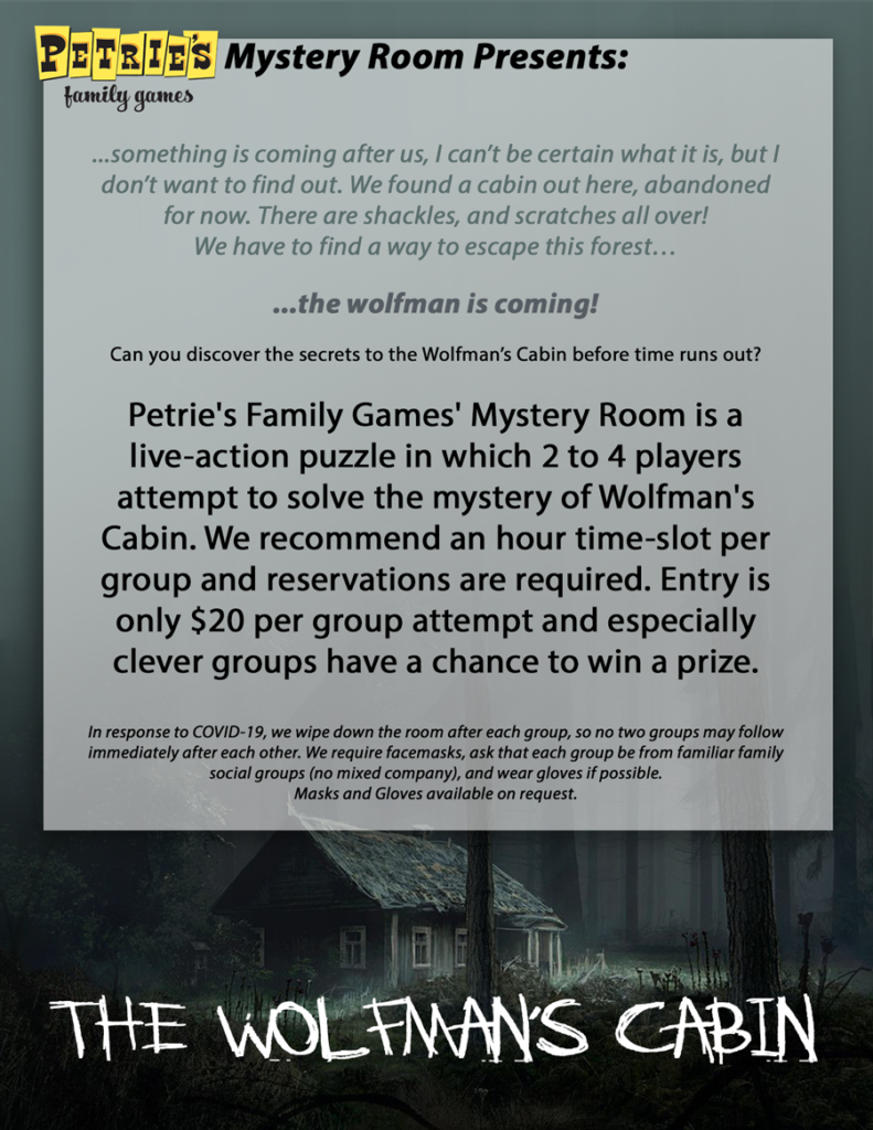 Wolfman's Cabin - A Mystery Room Experience