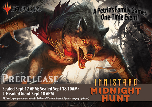 Magic the Gathering: Innistrad Midnight Hunt - Prerelease Sealed Tournament